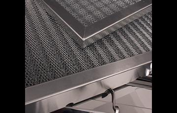 Aluminium baffle filters