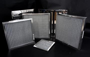 Aluminium mesh filters