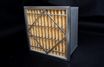 Box format rigid bag filters